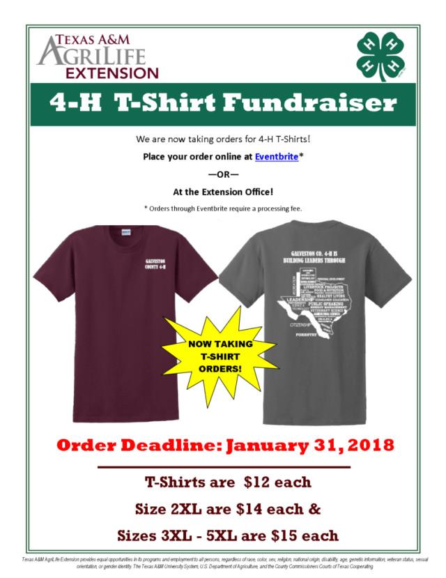 4 h t shirt fundraiser