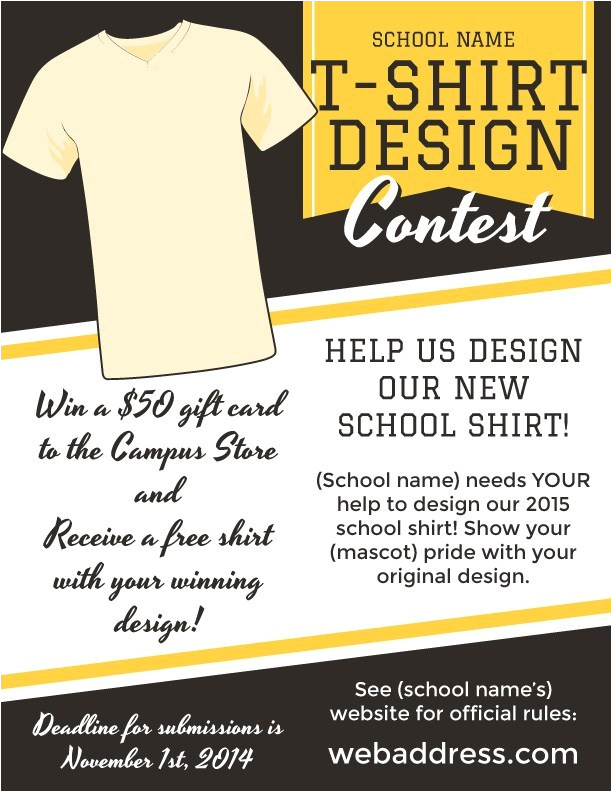 t shirt design contest marketing flyers
