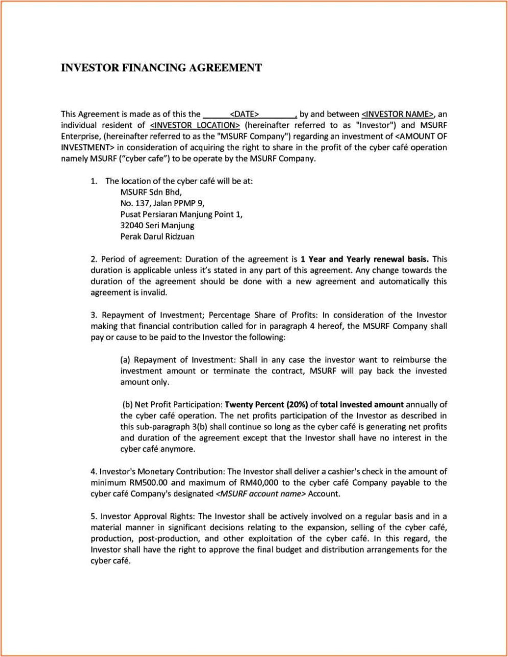 talent management contract template