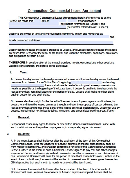 T&m Contract Template Download Connecticut Rental Lease Agreement forms and