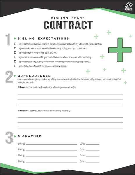 sibling peace contract