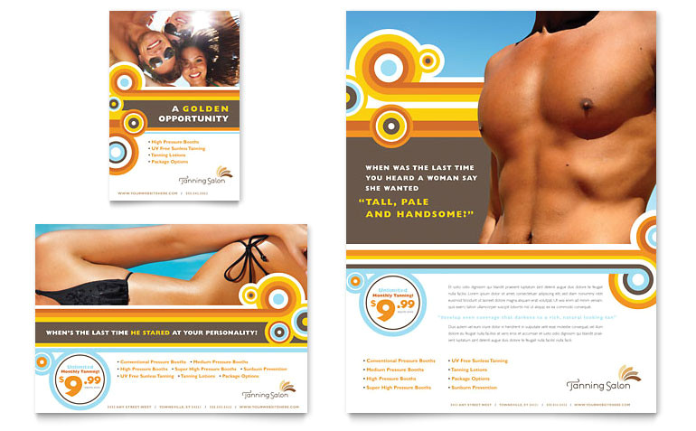 tanning salon flyer ad templates hb0030701d