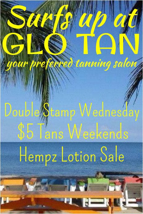 tanning salon flyer template