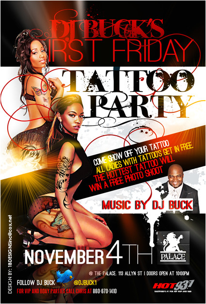tattoo party flyer 265566627