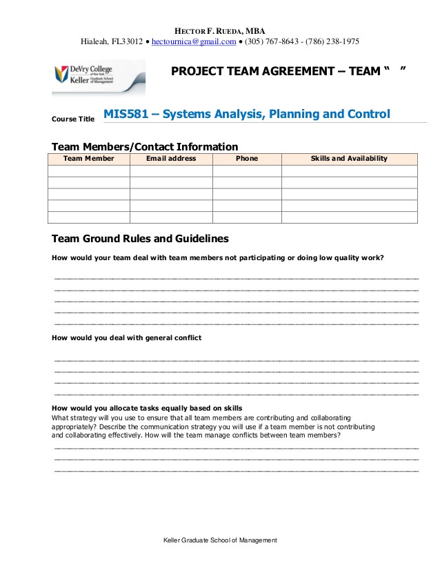 project team agreement