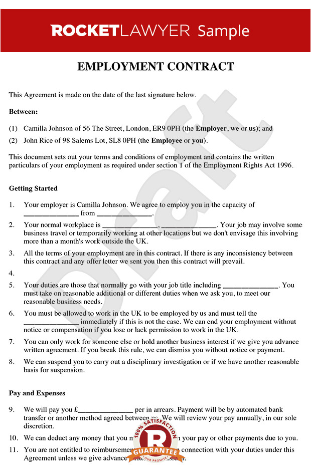 employment contract rl