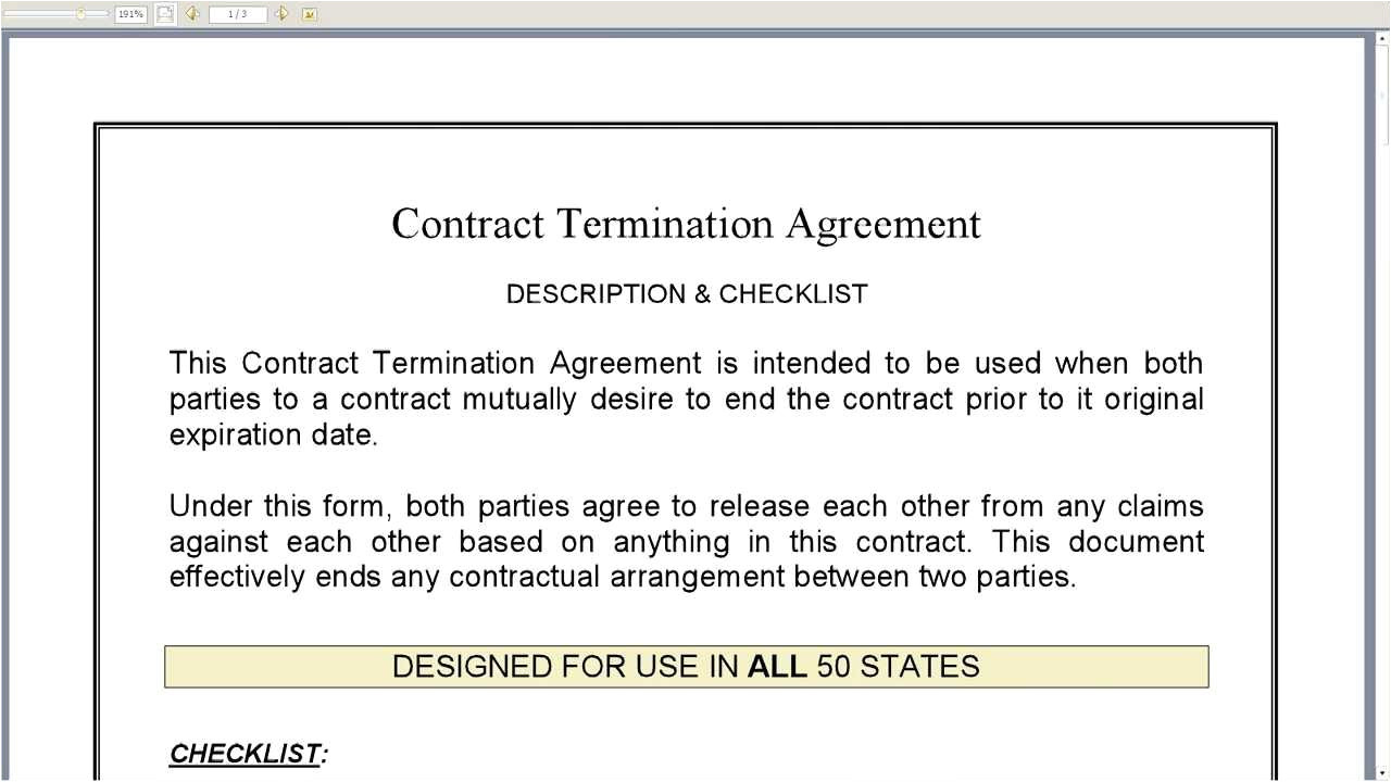 Template for Cancellation Of Contract Contract Termination Agreement Youtube