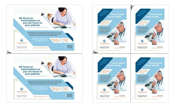 create half page flyers quarter page flyers