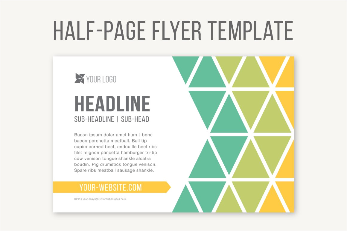 785305 half page flyer template