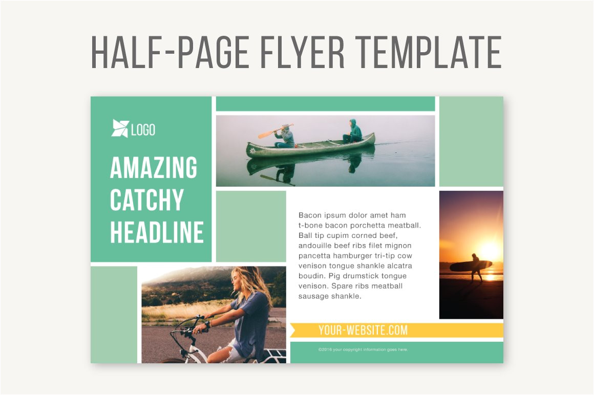 785284 half page flyer template