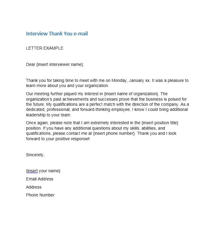 Template for Thank You Email after Interview 40 Thank You Email after Interview Templates ᐅ Template Lab