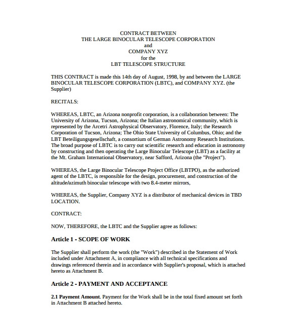 Template Of A Contract Between Two Parties 53 Contract Agreement Templates Pages Docs