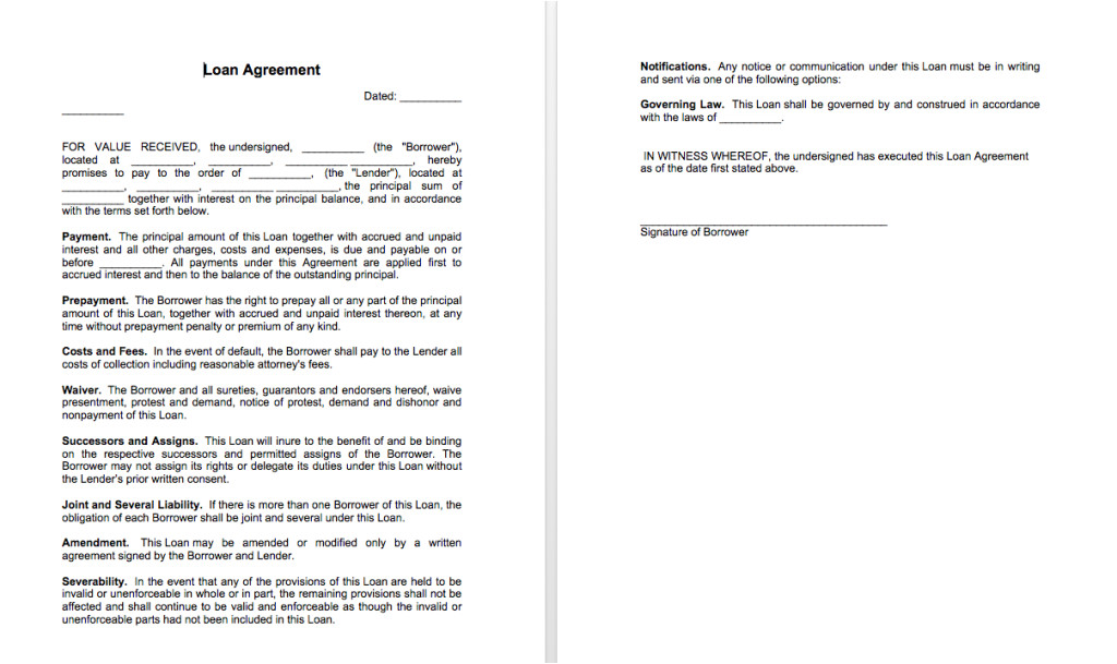 Template Of A Contract Between Two Parties Sample Of Loan Agreement Between Two Parties top form