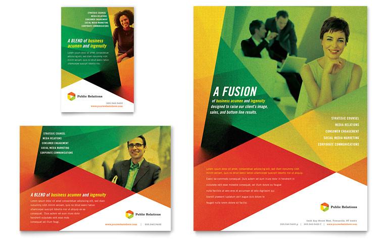 public relations company flyer ad templates pn0130701d