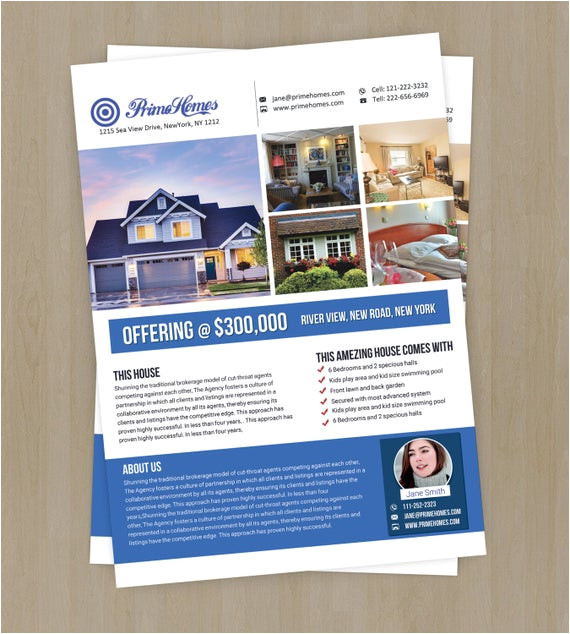 real estate advertising flyer template