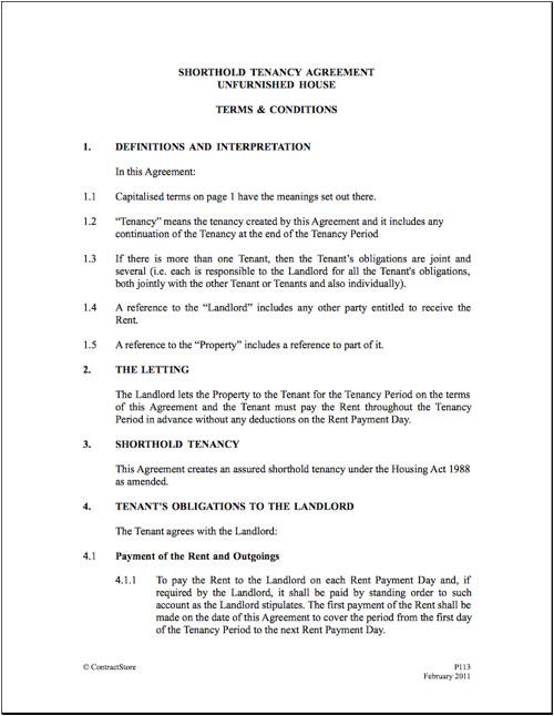Tenancy Contract Template Uk Tenant Agreement Gtld World Congress