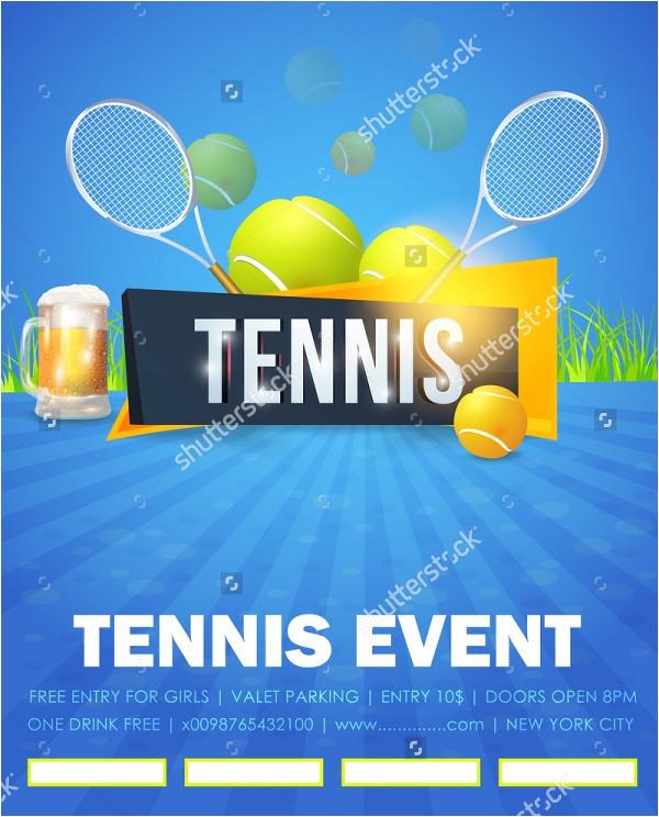 tennis flyers