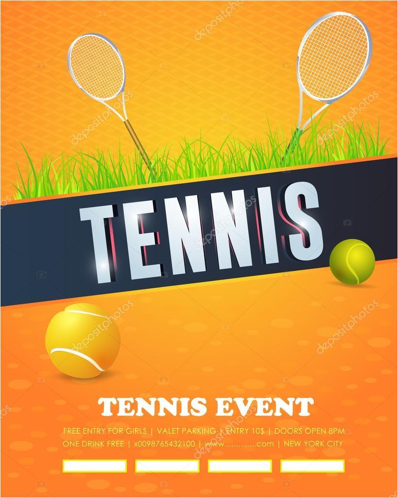 stock illustration tennis event flyer or poster