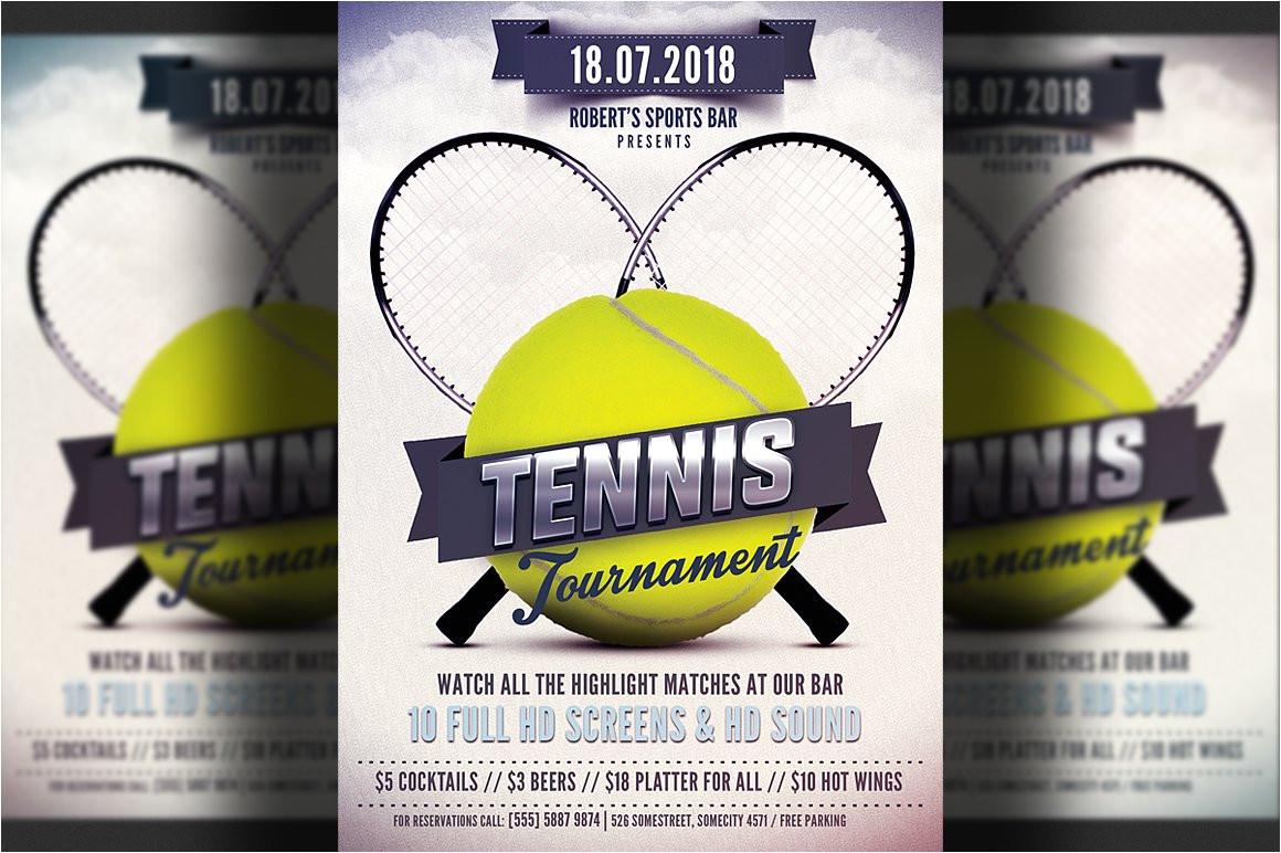 1670071 tennis flyer template