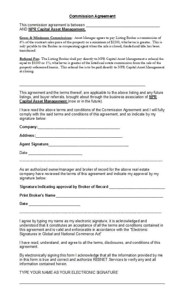 free sales agreement template image