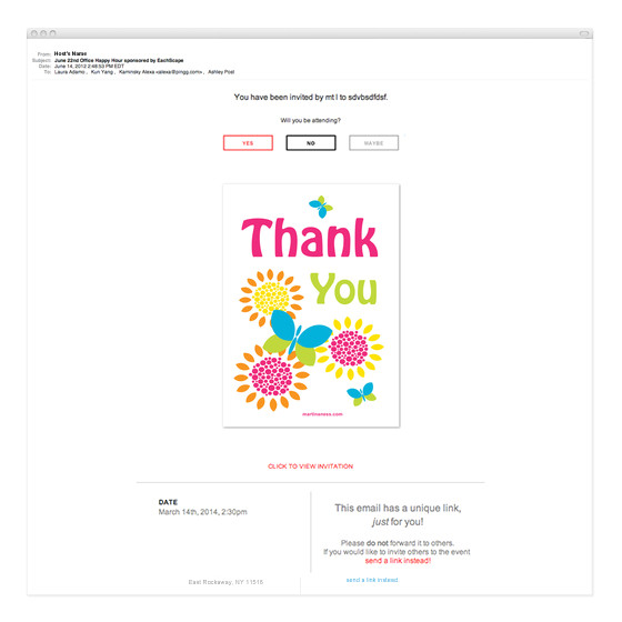 colorful thank you card with butterflies