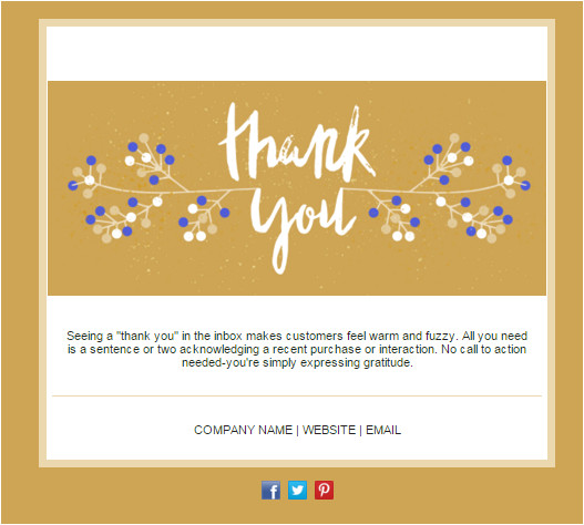 Thank You Card Email Template Tired Of Your Newsletter Design Try these 14 Templates