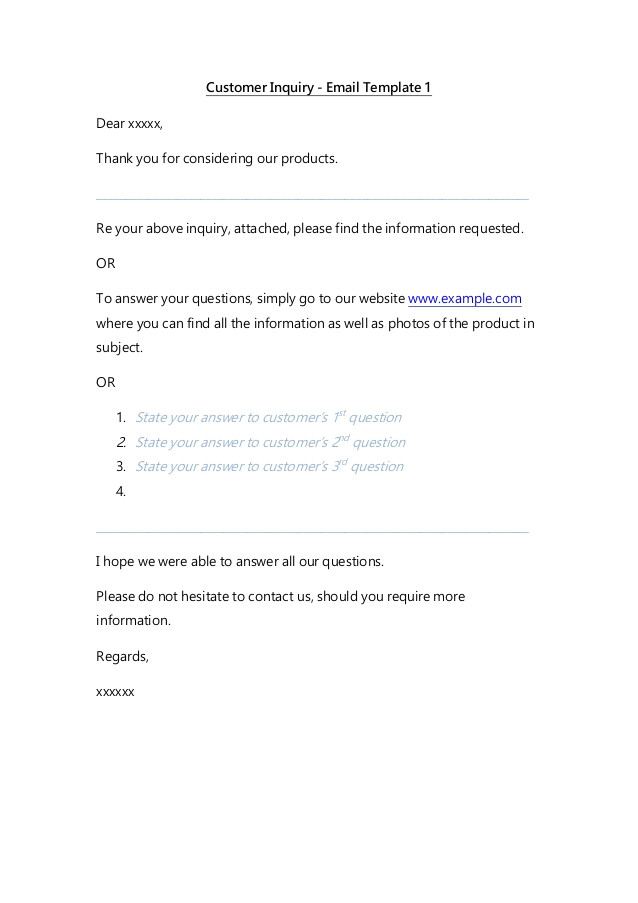 Thank You Email Template to Customer Email Templates Customer Service