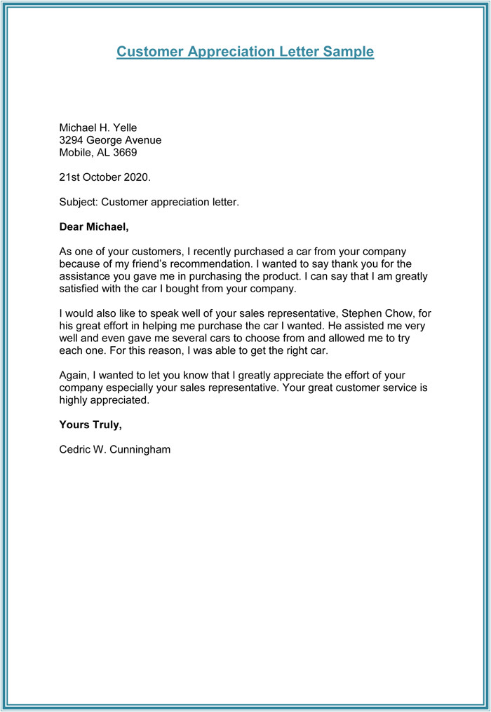 thank you letter client template
