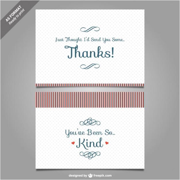 thank you card template vector 753537