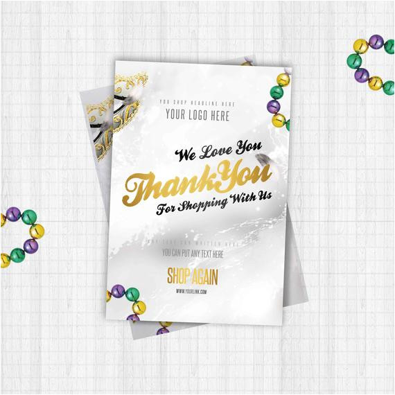 thank you flyer card template design for