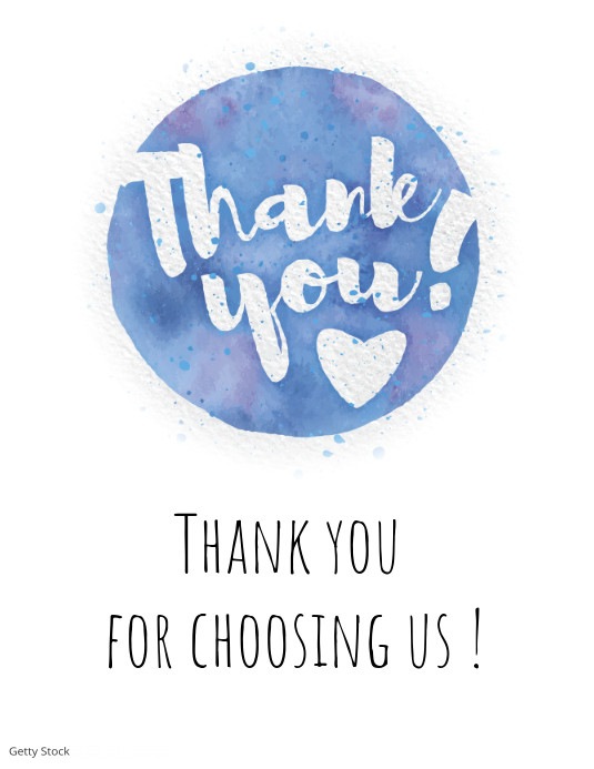 thank you message card label tag marketing flyer template