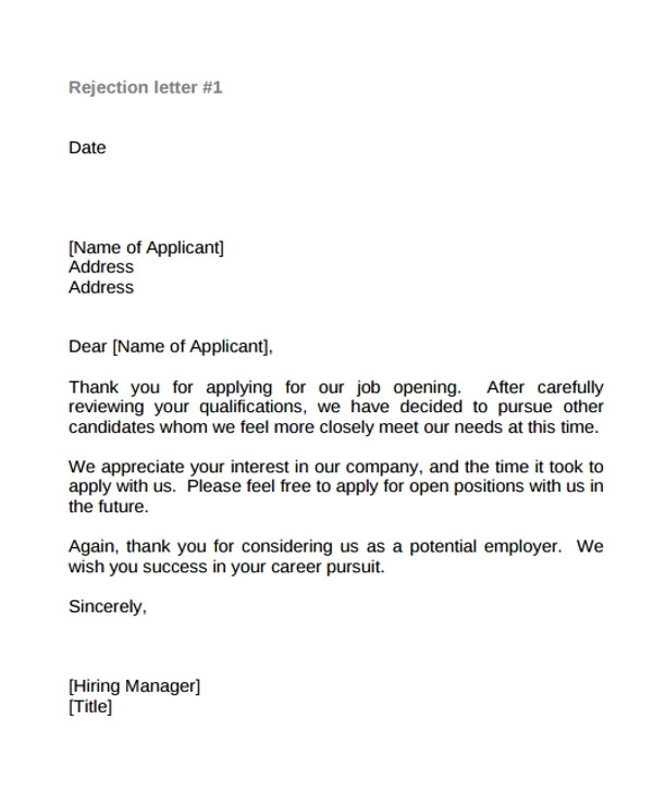 job offer thank you letter template sample