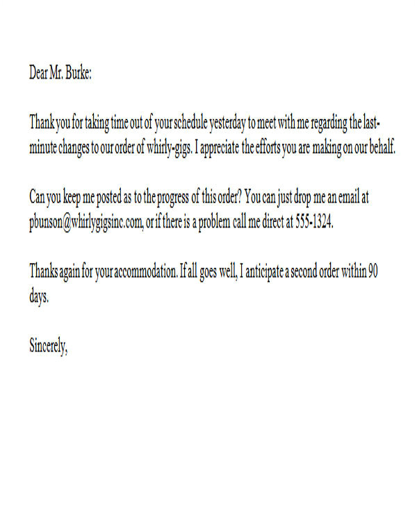 thank you letter in word template