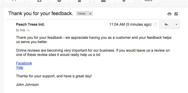 Thank You for Your Feedback Email Template Increase Your Positive Online Reviews with Getfivestars