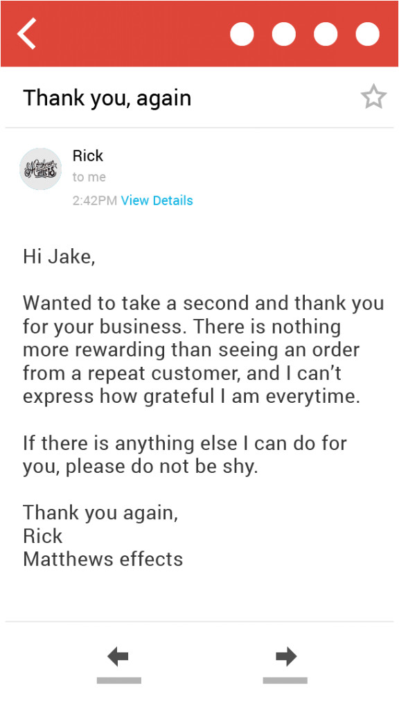 thank you for shopping with us letter