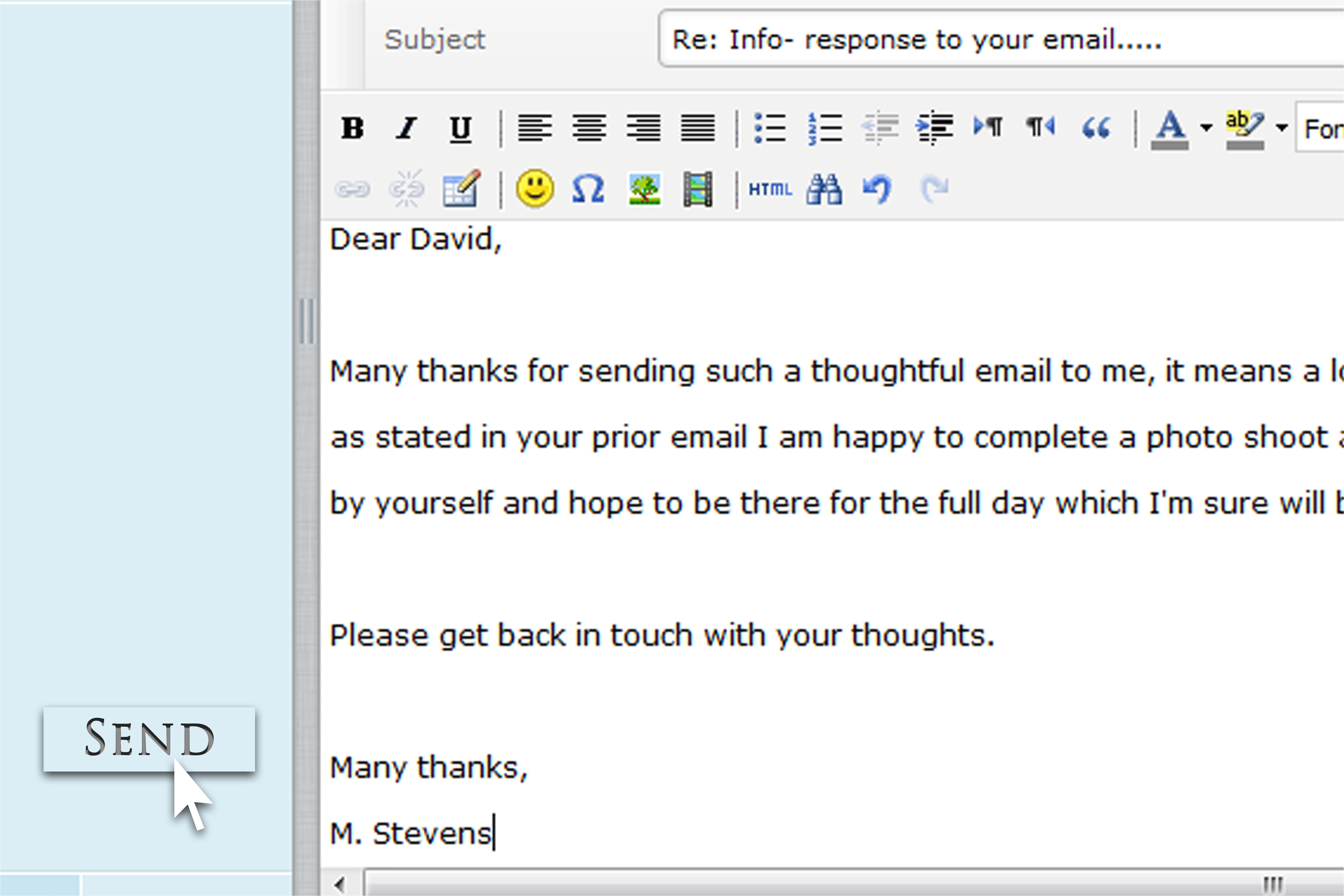 respond to an email with a thank you