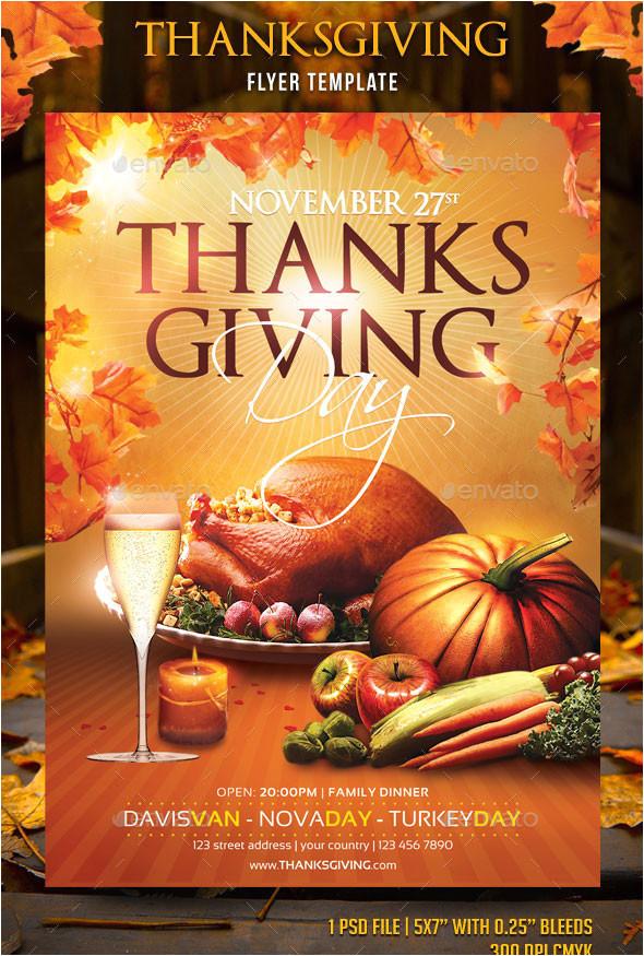 20 best psd thanksgiving flyer templates