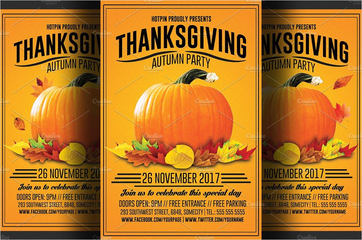 354980 thanksgiving flyer template