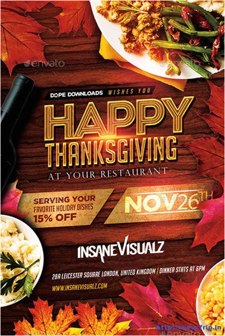 thanksgiving flyer print templates
