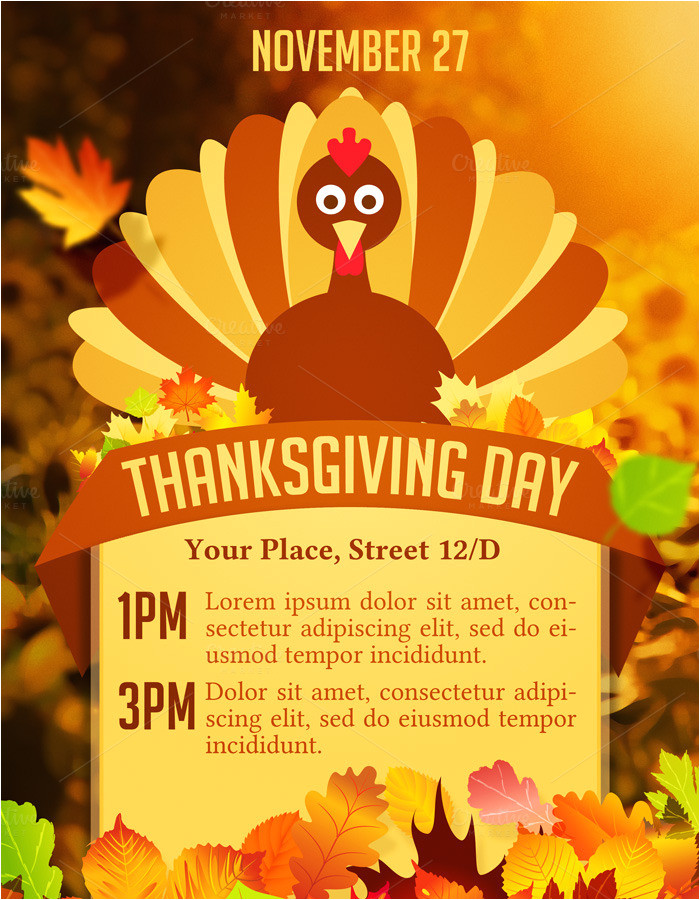 109232 thanksgiving day flyer