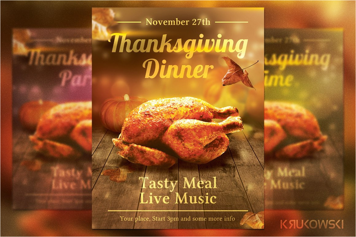 100554 thanksgiving dinner flyer