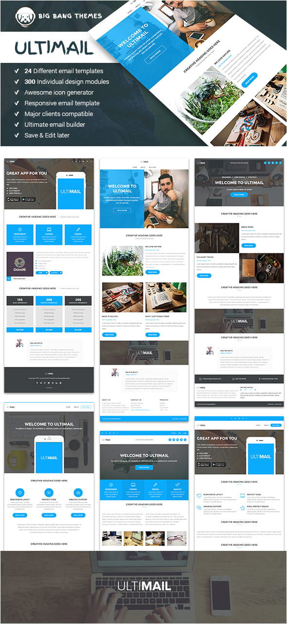 20 responsive email newsletter templates for your next marketing campaign cms 26156