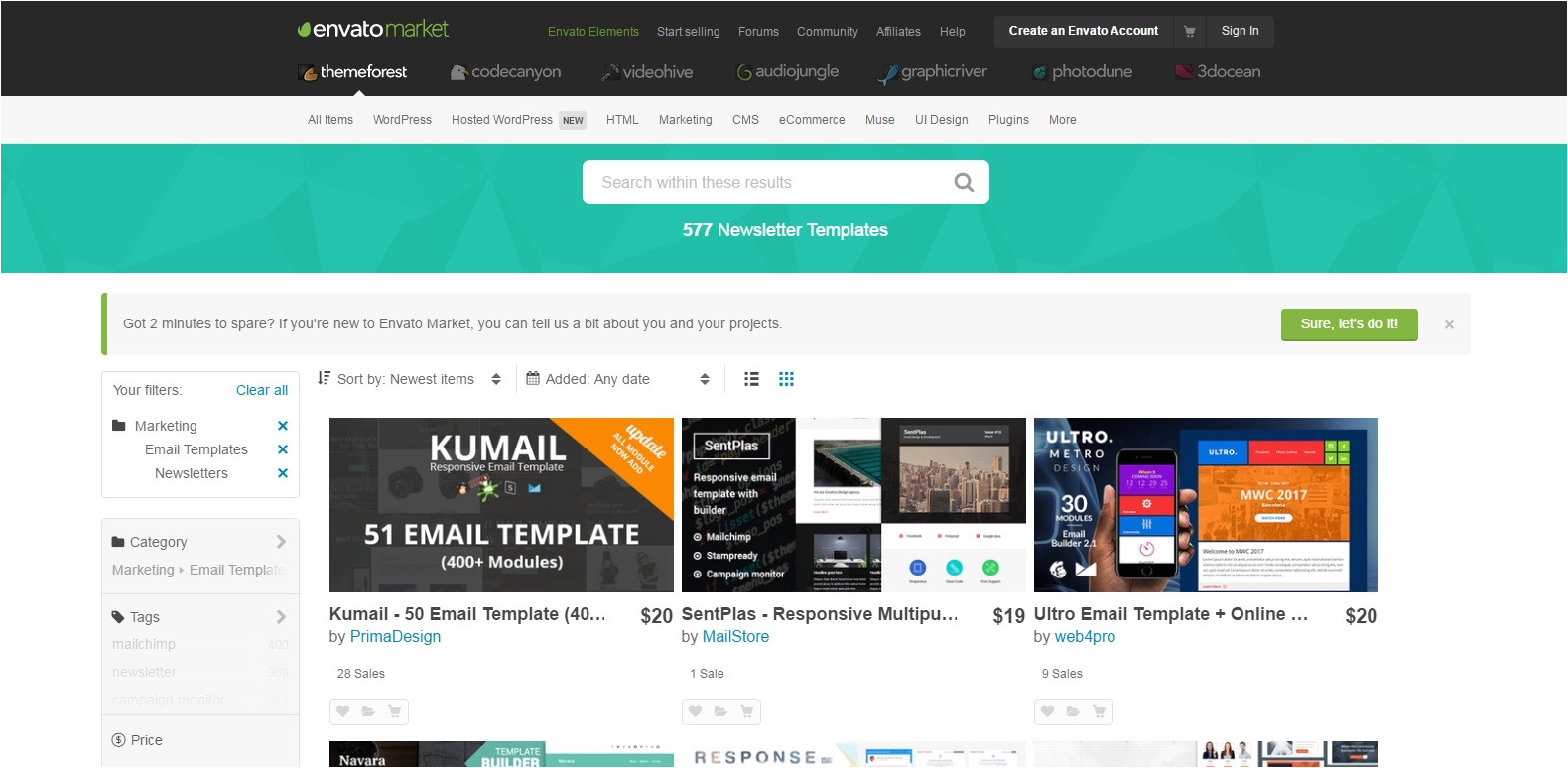 Themeforest Email Templates Free Download 2017 Best Places to Find Brilliant Email Newsletter