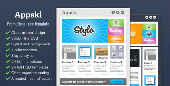 Themeforest Email Templates Free Download Appski App Promotional Email Template by Cazoobi