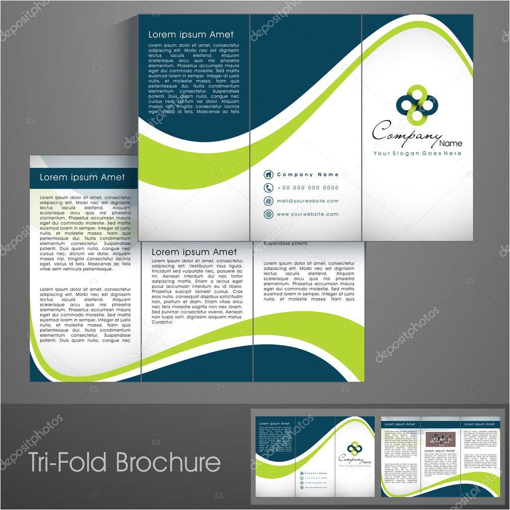 stock illustration professional business three fold flyer