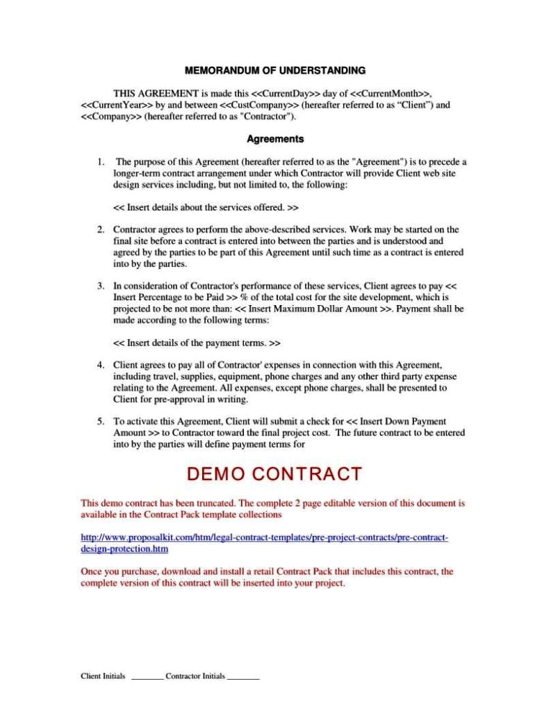 three party contract template