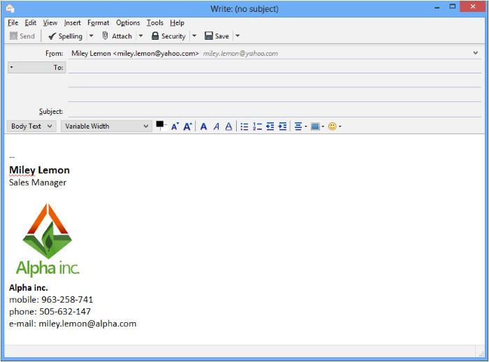 in thunderbird email signatur einrichten