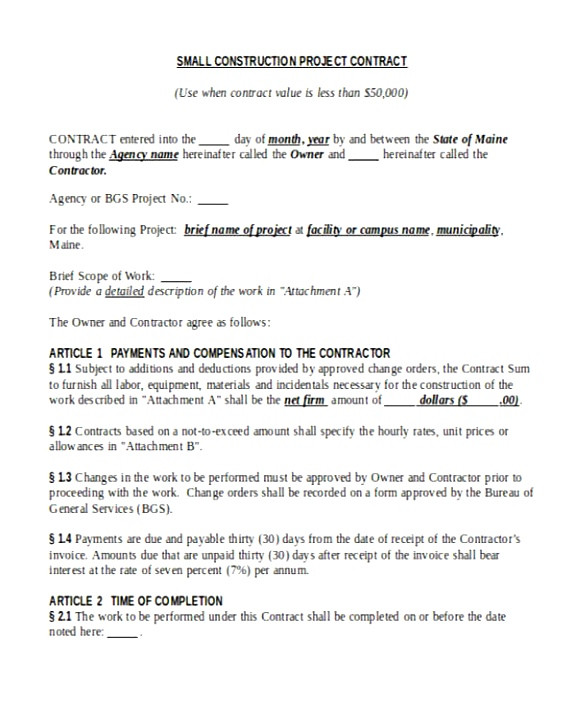Time & Materials Contract Template 5 Time and Material Contract Template Uttuj Templatesz234