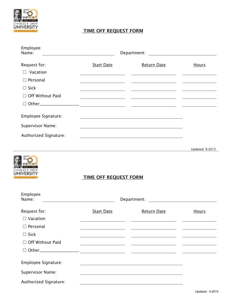 pto request form templates