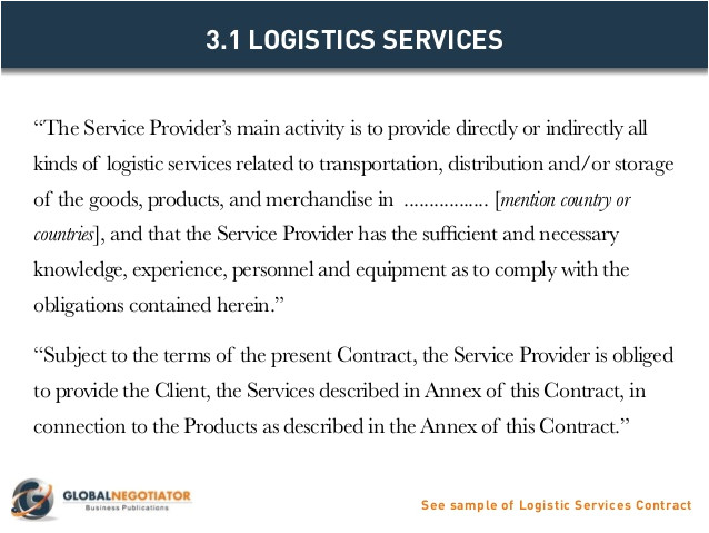 logistics services contract